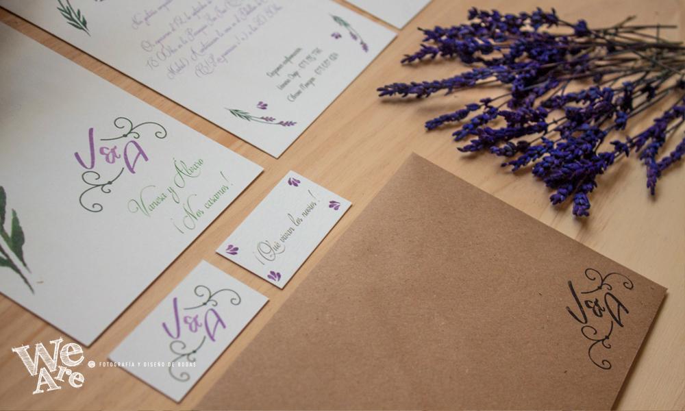 Invitaciones de boda personalizadas. Diseño de bodas.