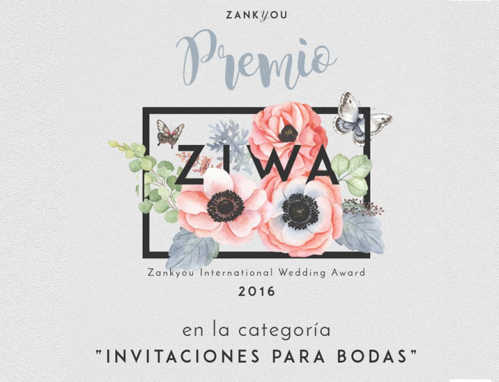 We Are Premio ZIWA Invitaciones de Boda 2016