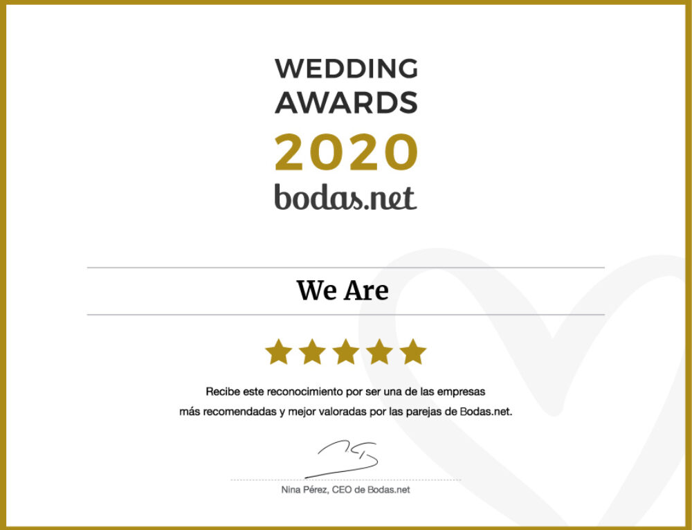 ¡¡Wedding Awards 2020!! by Bodas.Net – We Are